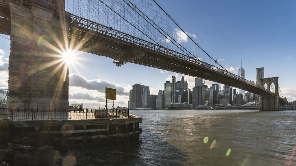 Brooklyn Bridge Sun TL 021819 UHD with music