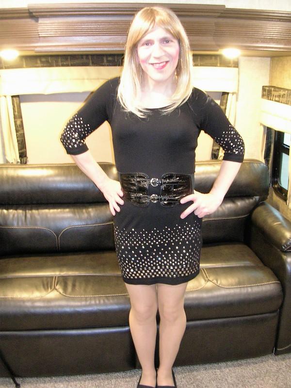 Black dress with studs