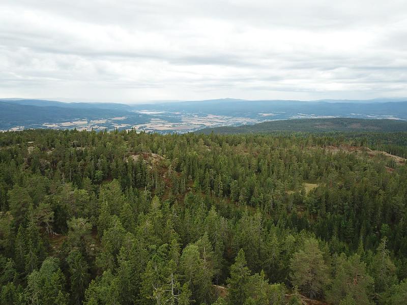 10-Utsikt mot Eiker fra Lokkeråsen (drone)