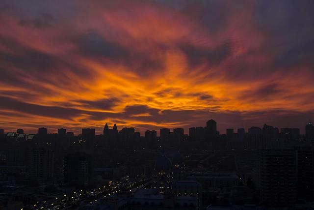 Baku sunset