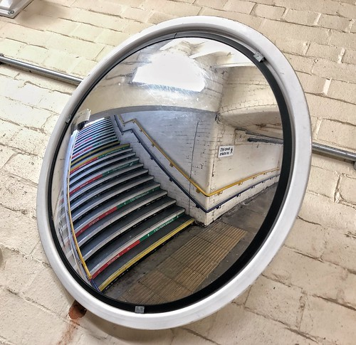 pointofview steps reflection iphone brick subway mirror huddersfieldstation iphone8plusbackdualcamera399mmf18 station underpass
