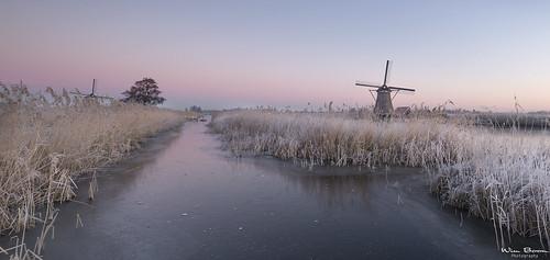 wimboon kinderdijk koud windmill winter winterlicht canoneos5dmarkiii canonef1635mmf4lisusm leefilternd09softgrad leefilter holland nederland netherlands natuur nature unescoworldheritage sunrise