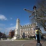 Signpost in the centre of Preston