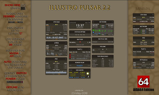 illustro Pulsar 2.2 AIDA64 Edition Rainmeter -  System monitoring tool