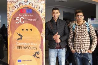 "Maroc - Béni-Mellal - Campus Tour #EU4YOUth... pour fêter les #50ansMarocUE - المغرب ـ بني ملال ـ جولة في الحرم الجامعي #EU4YOUth""الإحتفال ب#50سنة المغرب أوروبا"""