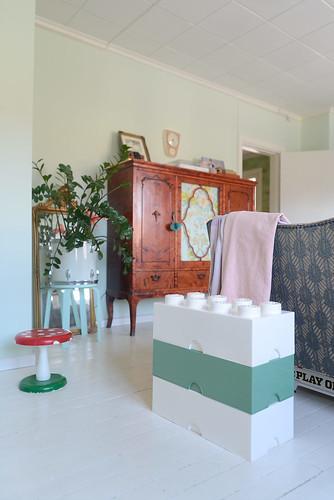 Lego storage in the living room | by jutta / kootut murut