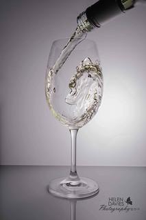 White wine splash.