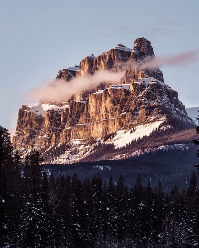 Tanner Wendell Stewart posted a photo:	Sunset. Castle mountain. Banff. Alberta. Epic light in the Rockies via 500px bit.ly/2WqTHrD