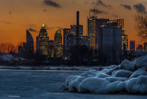 Sunset over Toronto gripped by a polar vortex | by Phil Marion (176 million views - THANKS)