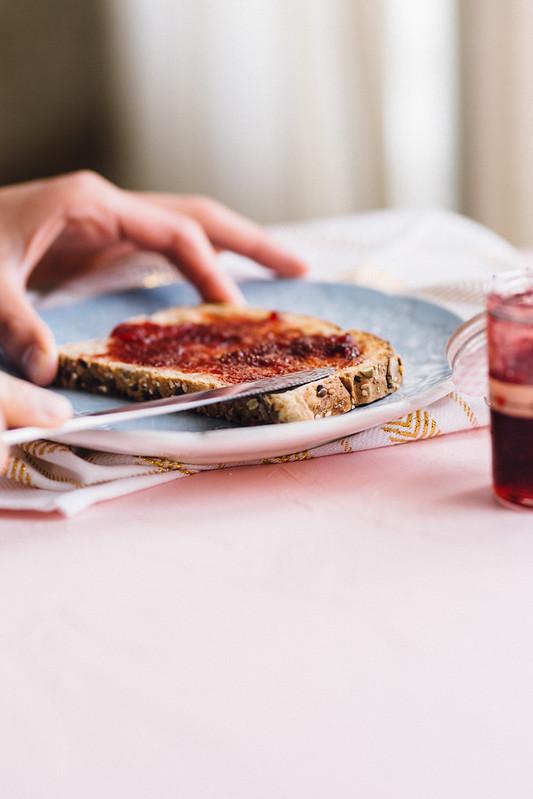 Vegan Strawberry Jam Recipe - Mini Jam Jars