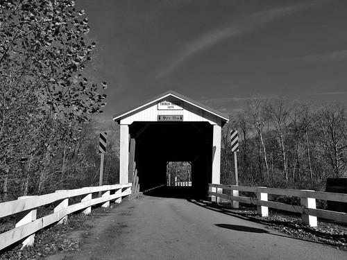 blackwhite blackandwhite bw thomasford covered bridge indiana county pa pennsylvania scenic scenery landscapes transportation outside