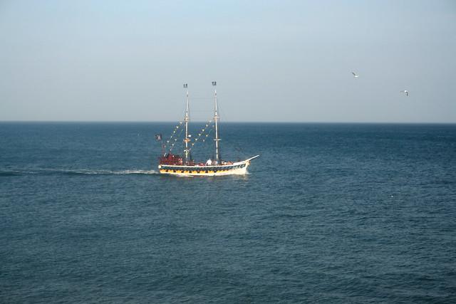 """""""Pirate"""" boat near Flamborough head"""