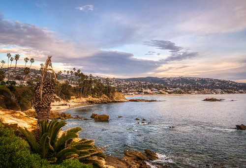 california hdr heislerpark lagunabeach nikon nikond5300 pacificocean beach clouds geotagged ocean palmtree palmtrees park rock rocks sand seascape sky tree trees water