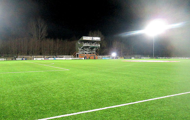 Park Hall Stadium, Oswestry from Main Stand