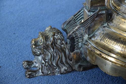 lectern: art nouveau winged lion | by Simon_K