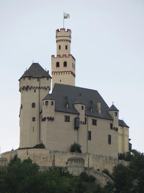 Château de Marksburg, XIIe siècle, Braubach, arrondissement de Rhin-Lahn, Rhénanie-Palatinat, Allemagne.