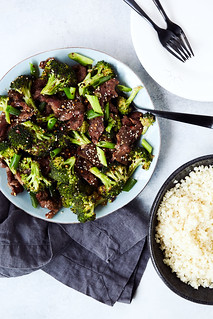 Easy Sheet Pan Keto Beef and Broccoli (w/ Stovetop option) {Paleo, Whole30} | by Tasty Yummies