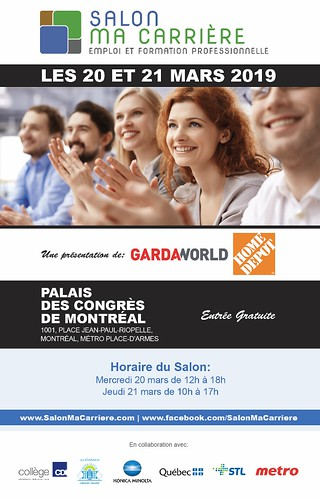 Salon der l'emploi :  20 - 21 mars 2019     Palais des congrès de Montréal   by Centre Afrika