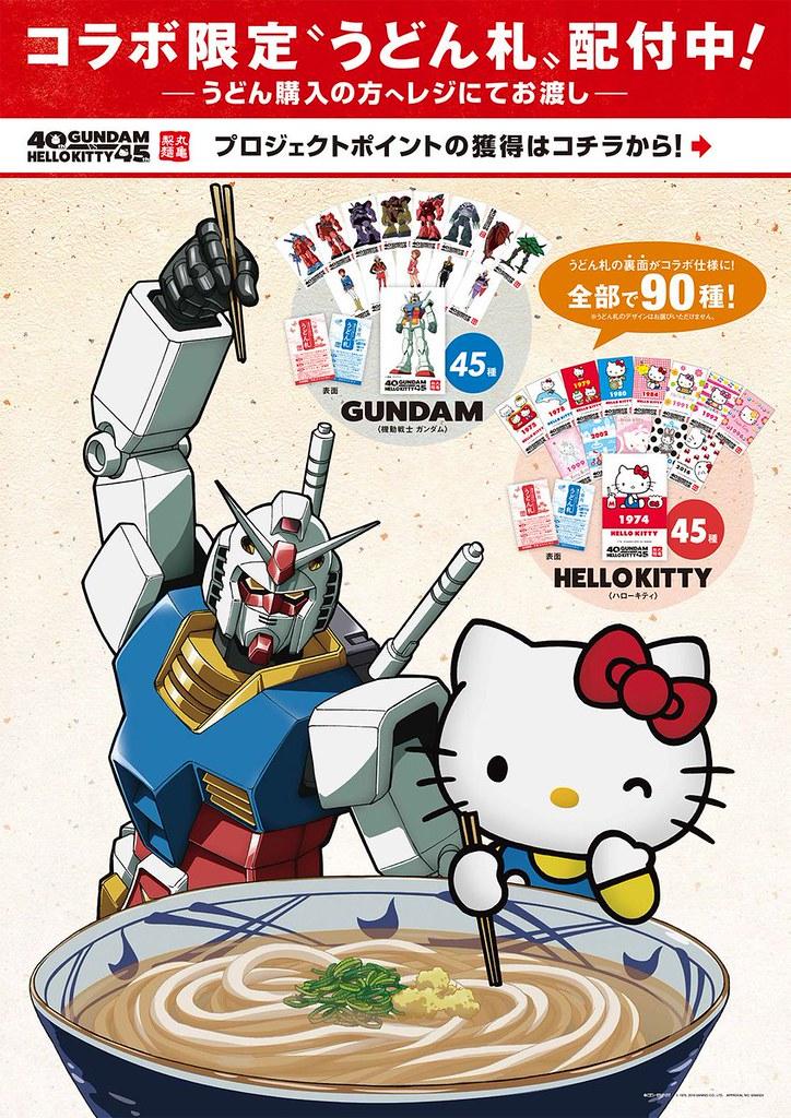 《機動戰士鋼彈》40周年 X《HELLO KITTY》45周年合作企劃,空前絕後的「白色惡魔VS白色無口貓」!