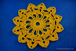 Summer Day Round Crochet Motif | by elsa.blueraindrops