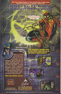 "AOL; MARVEL ONLINE :: ""HERE'S A BUG - "" .. Cybercomic (( 1997 )) 