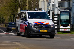 Dutch Police Van underway to an emergency call in Rotterdam