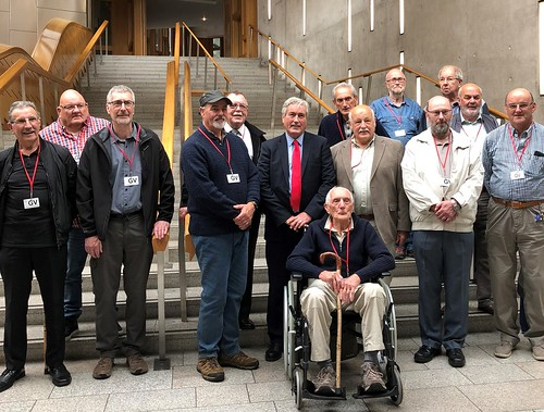 Welcoming Macmerry Men's Shed group to Holyrood | by Iain Gray MSP
