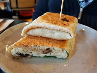Scrambled Tofu Wrap