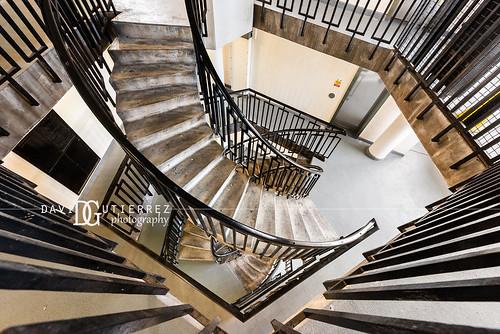 Stair Maze - Dorset Estate - George Loveless House, Bethnal Green, London, UK   by davidgutierrez.co.uk