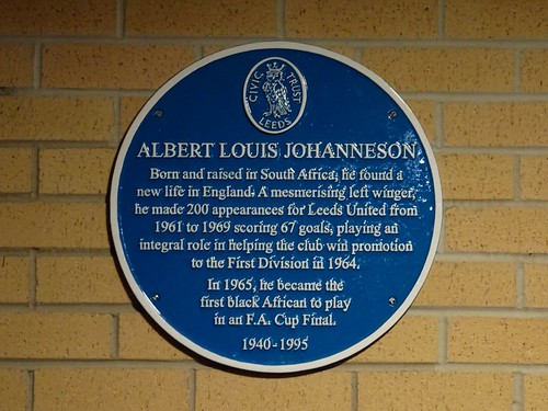Albert Johanneson blue plaque outside Elland Road stadium
