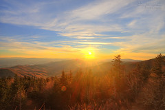 Sunset at Clingman's Dome - GSMNP