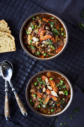 Instant Pot Hamburger Soup - Paleo, Keto, Whole30 | by Tasty Yummies