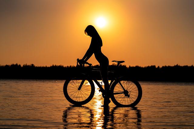 Girl and Bike IV