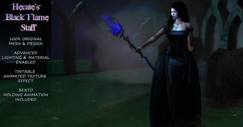 Hecate's Black Flame Staff Ad