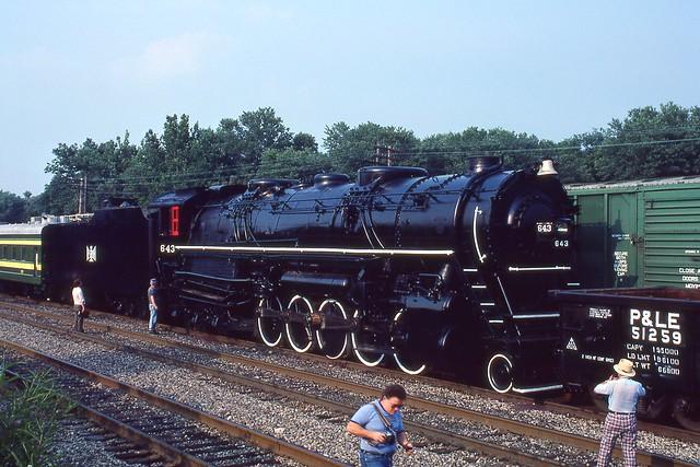 BLE 643 in 1983. Shenango Yard. Greenville, PA