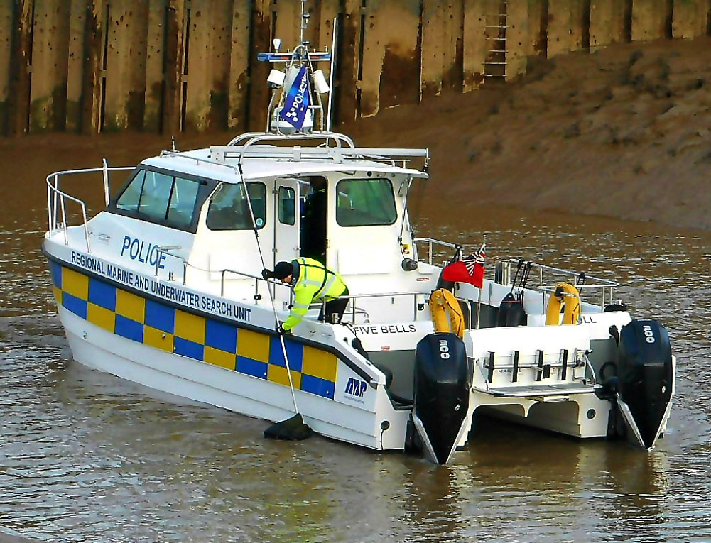 Police Vessel on the River Hull ..