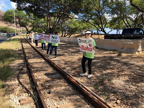 """Hawaiian Electric at the Valley of the Rainbows """"Drive with Aloha"""" Sign Waving event — April 11, 2019: Drive with aloha! It's a simple message to spread, support, and remember. 