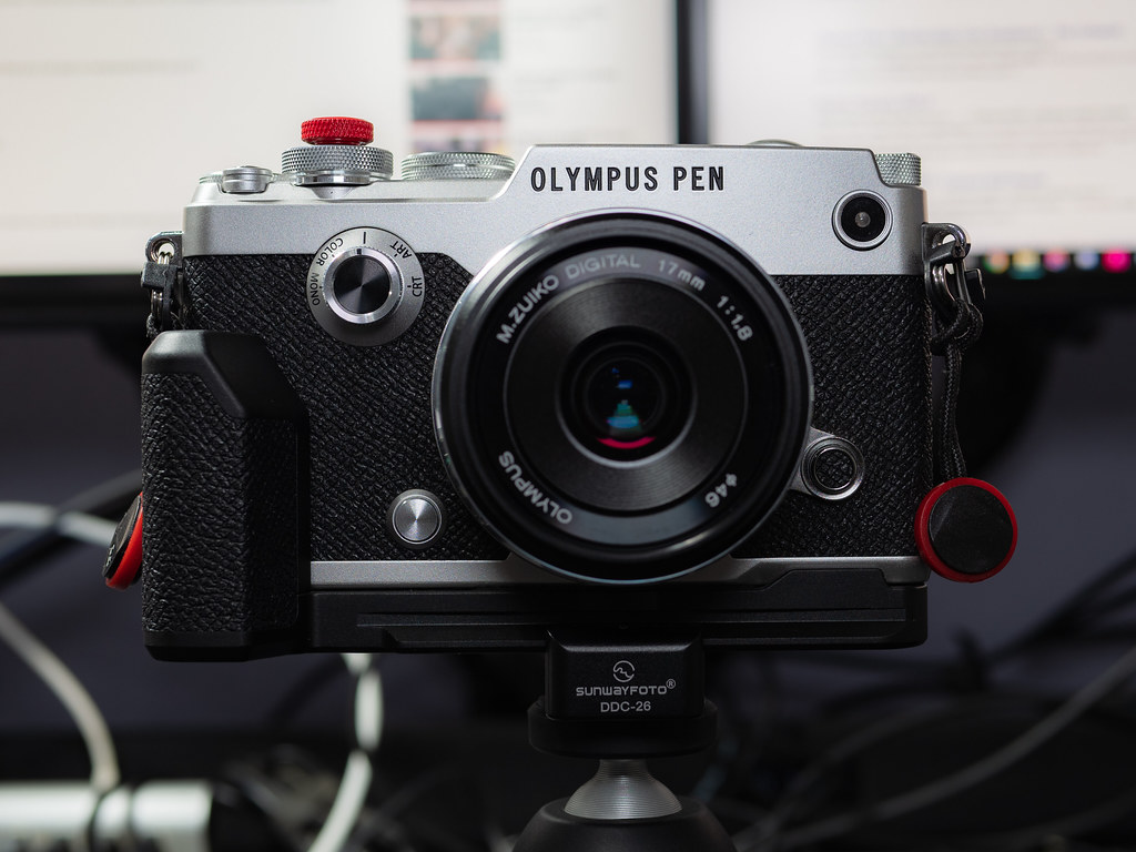 Olympus PEN-F & 17 mm f/1.7, head-on