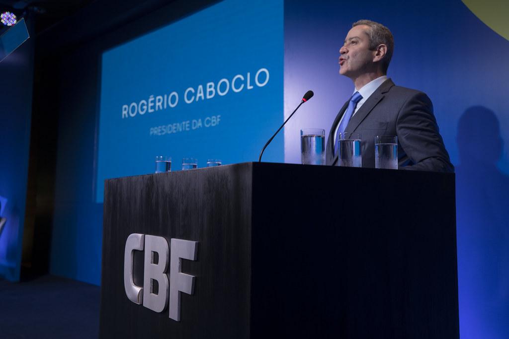Posse do Presidente da CBF Rogério Caboclo. Lucas Figueiredo/CBF