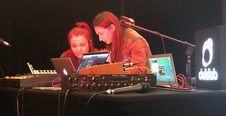 Interview wit Alison Tavel  resynator and Tara Busch  TaraBusch with live demos of the Resynator pitch controlled synth via dublab radio at Synthplex 2019