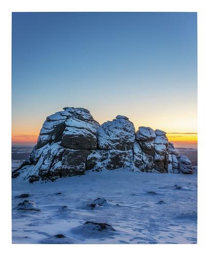 haytor dartmoor devon blue bluehour sunrise dawn morning landscape landscapes landscapephotography landmark landmarks canon england efs1585mmisusm eos eos80d