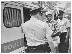 Hobson arrested in bus fare increase protest: 1970