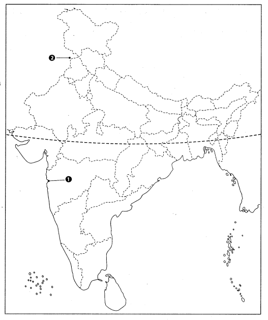 Class 10 History Map Work Chapter 3 Nationalism in India Q1