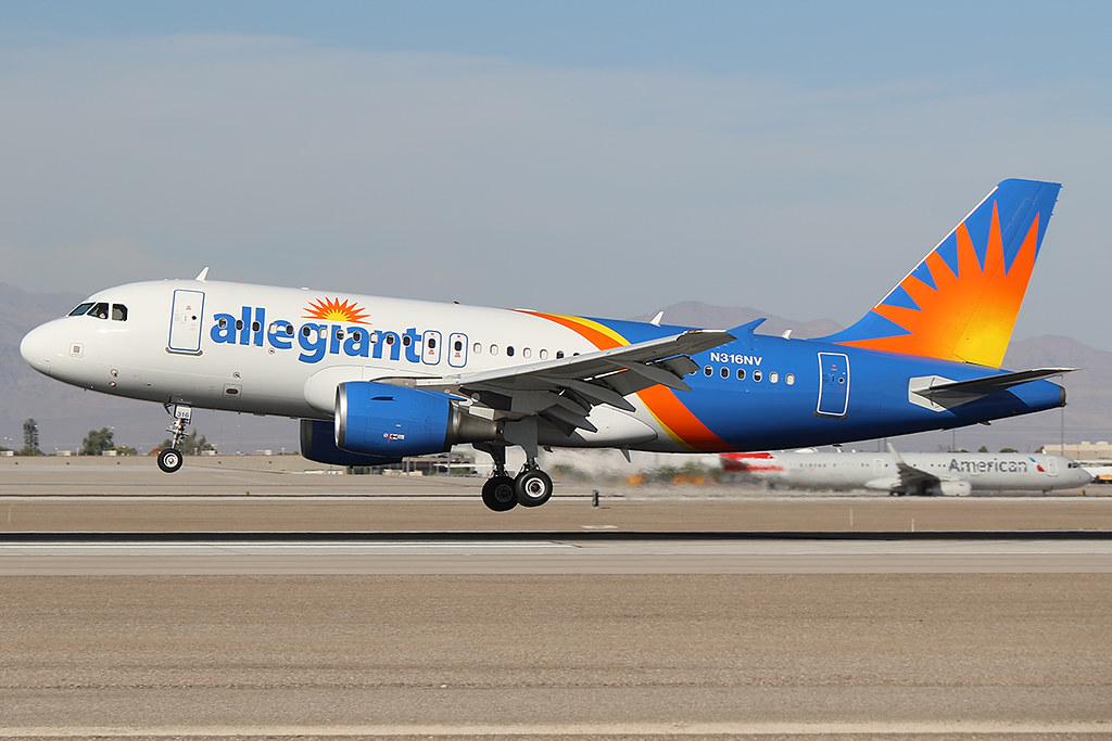 Allegiant Airlines Airbus A319-111 N316NV at KLAS