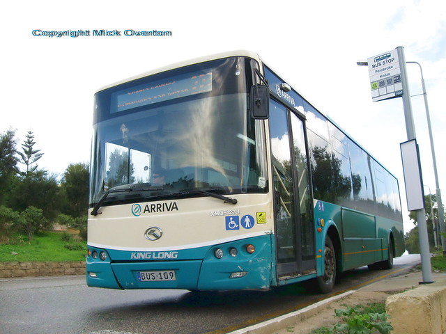 17 months old ARRIVA Malta King Long XMQ6127J BUS!09 route 222 at Pembroke