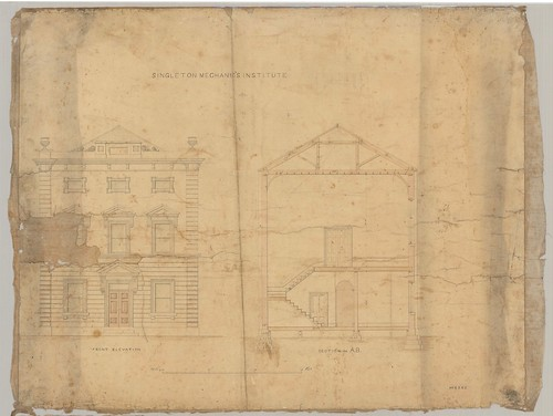M6265 Singleton Mechanic's Institute, Early Plans [n.d.] | by UON Library,University of Newcastle, Australia
