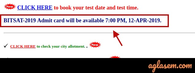 BITSAT 2019 Admit Card Delayed by 2 Hours, To Release Today at 7 PM