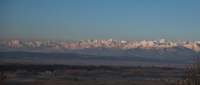 View to the Alps in Piemonte