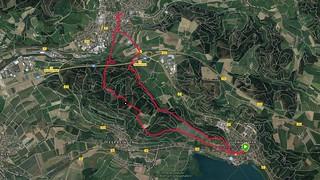 Bodensee: Ludwigshafen - Stockach (Rundwanderung im Oktober 2018, Screenshot Garmin) | by Frank Hamm