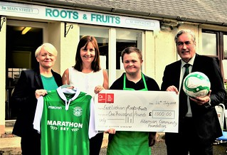 At Roots and Fruits with the Hibs Community Foundation | by Iain Gray MSP